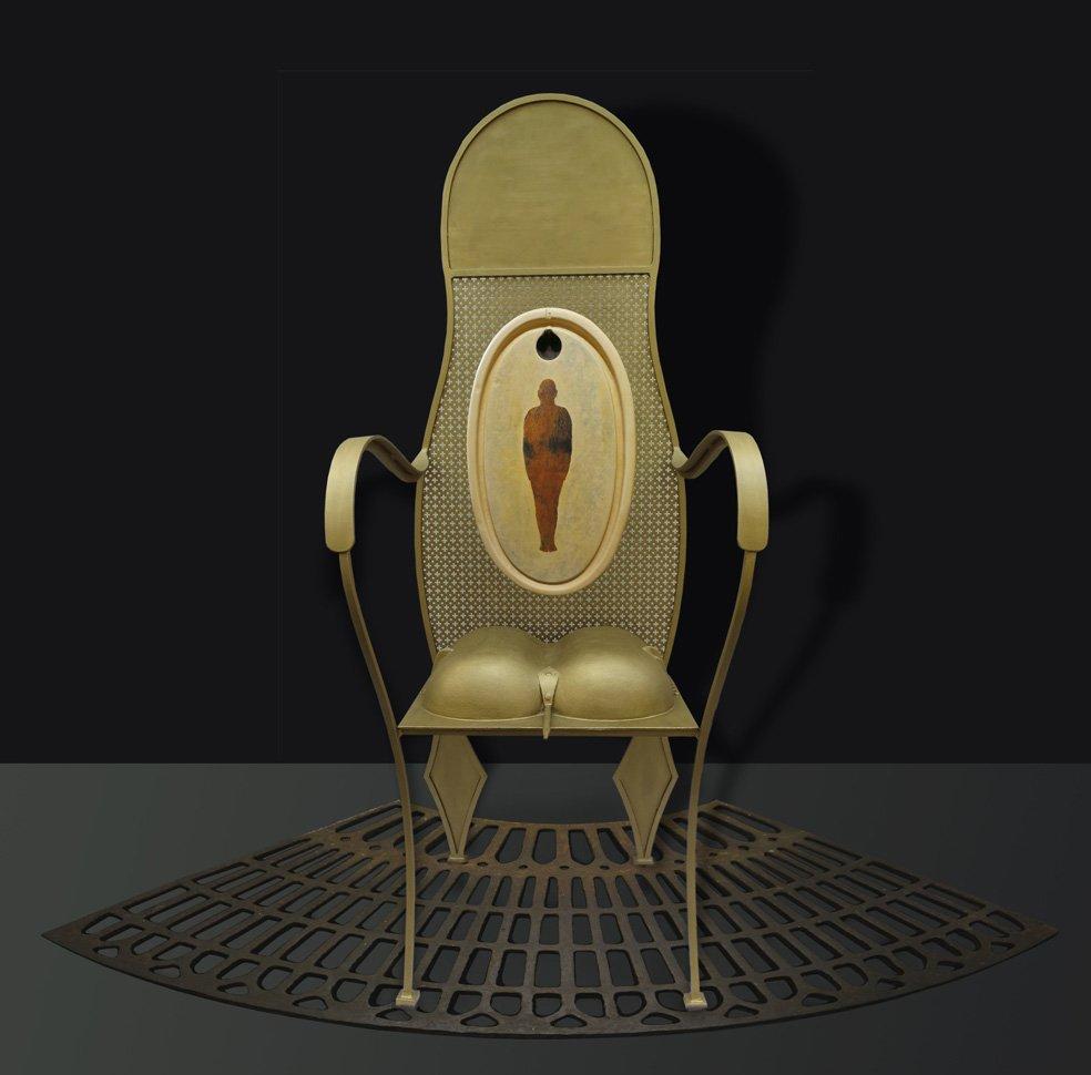 confession du siège 1 oeuvre artiste contemporain Kamel Yahiaoui