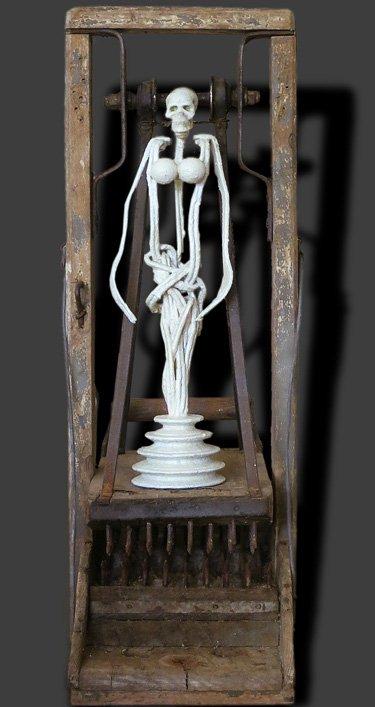 La mort à l'échafaud 2 oeuvre artiste contemporain Kamel Yahiaoui