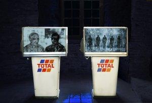 Les hommes en ruine oeuvre artiste contemporain Kamel Yahiaoui