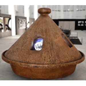 Dialogue des continents 2 oeuvre artiste contemporain Kamel Yahiaoui