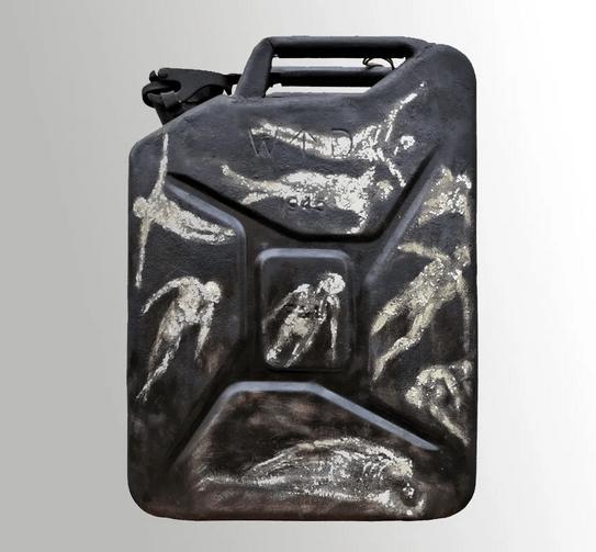 l'anamnèse du jerrican 2 oeuvre artiste contemporain Kamel Yahiaoui