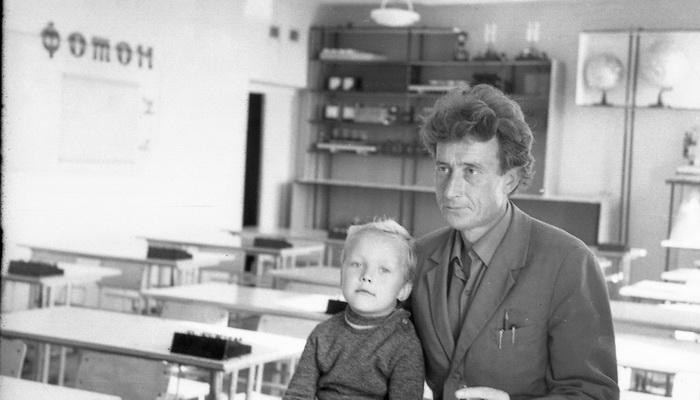 Георгий Георгиевич Грушевский с сыном Андреем.