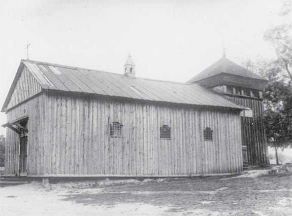 Часовня, пристроенная к звоннице после пожара костёла. Из архива Г.С.Мусевича