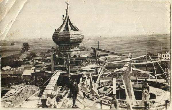 Начало работ по устройству главного купола