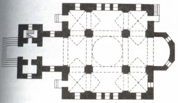 План Симеоновской церкви