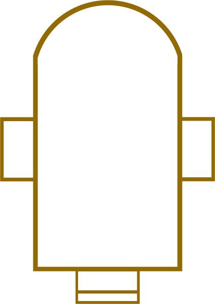 Схема фундамента Воскресенской церкви