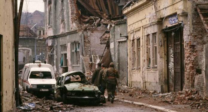 Yugoslavian Federal Army Destroys Croatian City of Vukovar