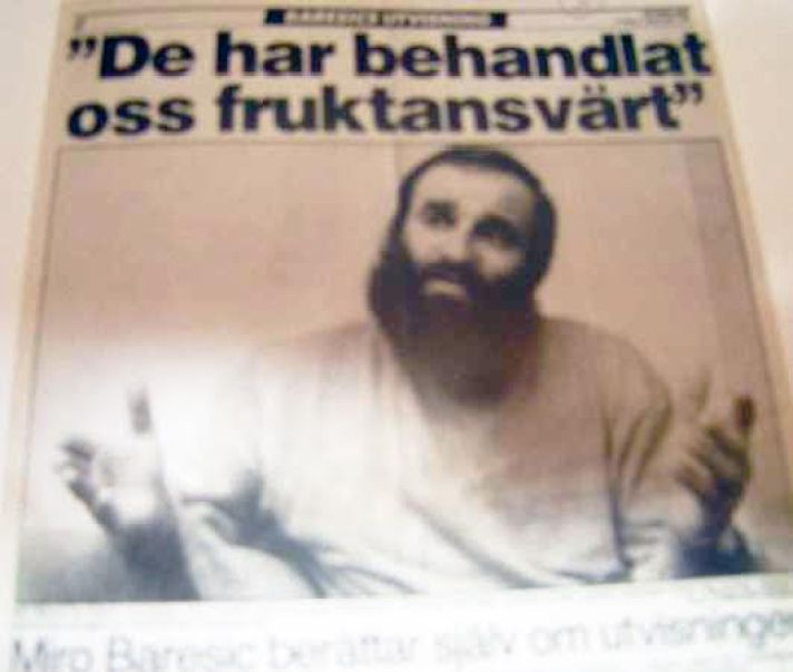 """Nakon što je izručen i nakon što se opravio od štrajka glađu, """"Aftonbladet"""" je objavio veliki intervju s Mirom Barešićem."""