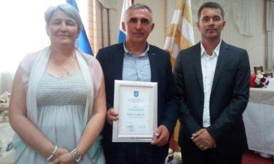 Načelnica Općine Tovarnik Ruža Veselčić Šijaković Antun Ivanković i predsjednik Općinskog vijeća Dubravko Blašković