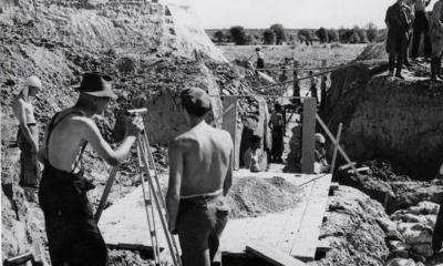 Foto: drustvojasenovac.wordpress.com, Logor Jasenovac, geodeti na građevinskim radovima