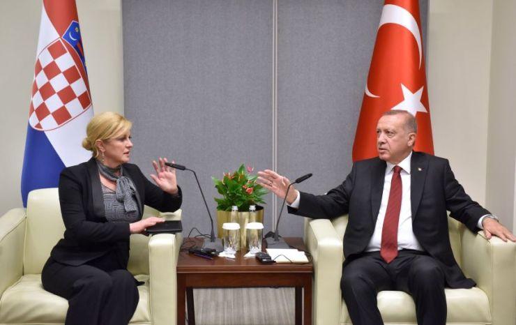 Sastanak Kolinda Grabar Kitarović – Recep Tayyip Erdogan