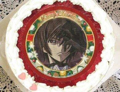 【コードギアス×プリロール】クリスマスのケーキが登場!しかも缶バッジ付きですよ(^^♪