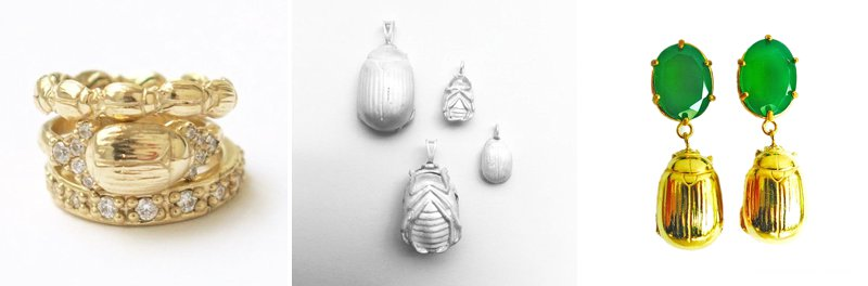 Scarab Beatle jewellery by Anna Rosholt at KAMERS Cape Town - buy online at shop.kamersvol.com