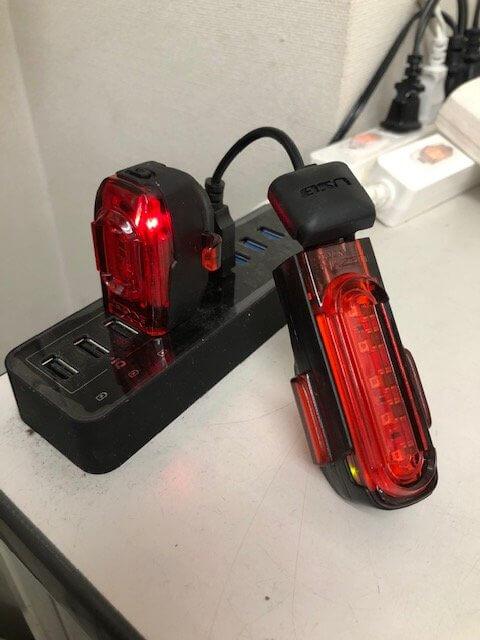 USB充電を行う所の画像