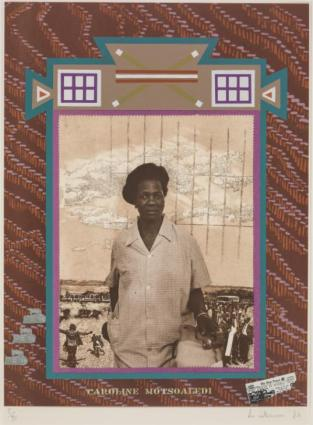 Caroline Motsoaledi 1984 Sue Williamson born 1941 Purchased with funds provided by Simon and Catriona Mordant, and the Basil and Raghida Al-Rahim Art Fund, courtesy of Goodman Gallery, 2014 http://www.tate.org.uk/art/work/P81086