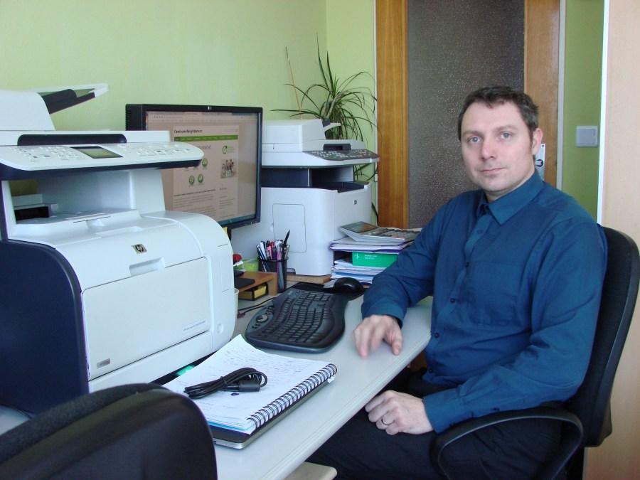 Kamil Bolek v pracovně
