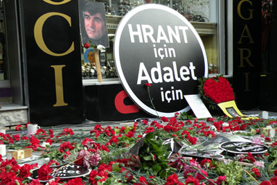 """For Hrant, For Justice"". Image from Radikal"
