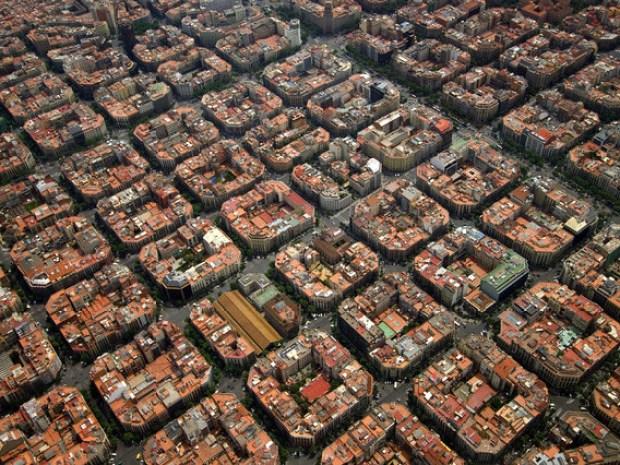 4 6 2009 BARCELONA VISTA AEREA DEL EIXAMPLE FOTO XAVIER JUBIERRE