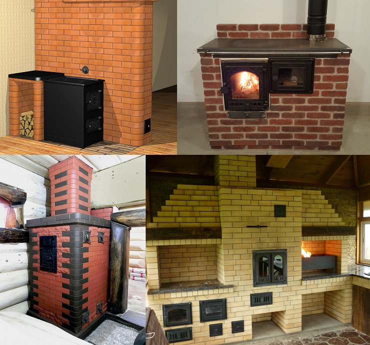 Types of brick stoves