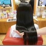 電子トリートメントを5年間使い続けた女性の髪の毛は?