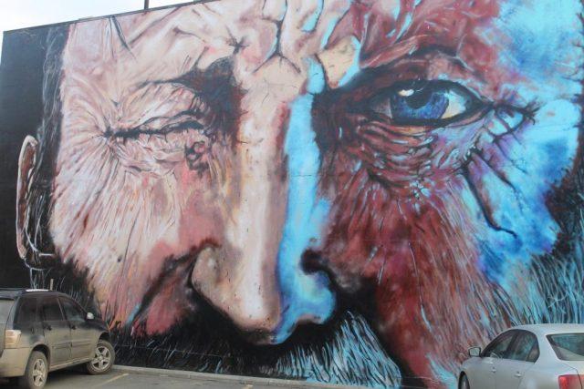 #32. 322 Seymour Street – The Winking Man The Winking Man mural
