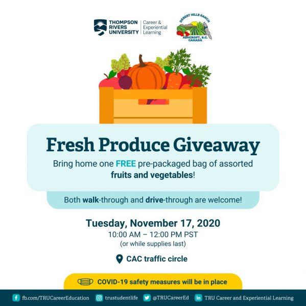 Fresh Produce Giveaway – TRU Newsroom