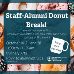 Staff+Alumni Donut Break – TRU Newsroom