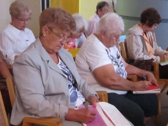 Iris and Judy adding their prayers