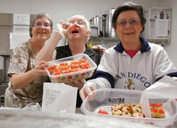 """The """"Sushi Chefs"""". Patric, Rhonda and Barb."""