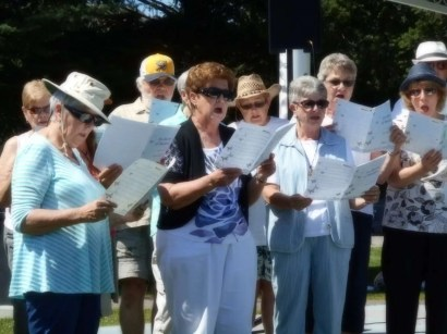 Some of the singers in the joint choir.