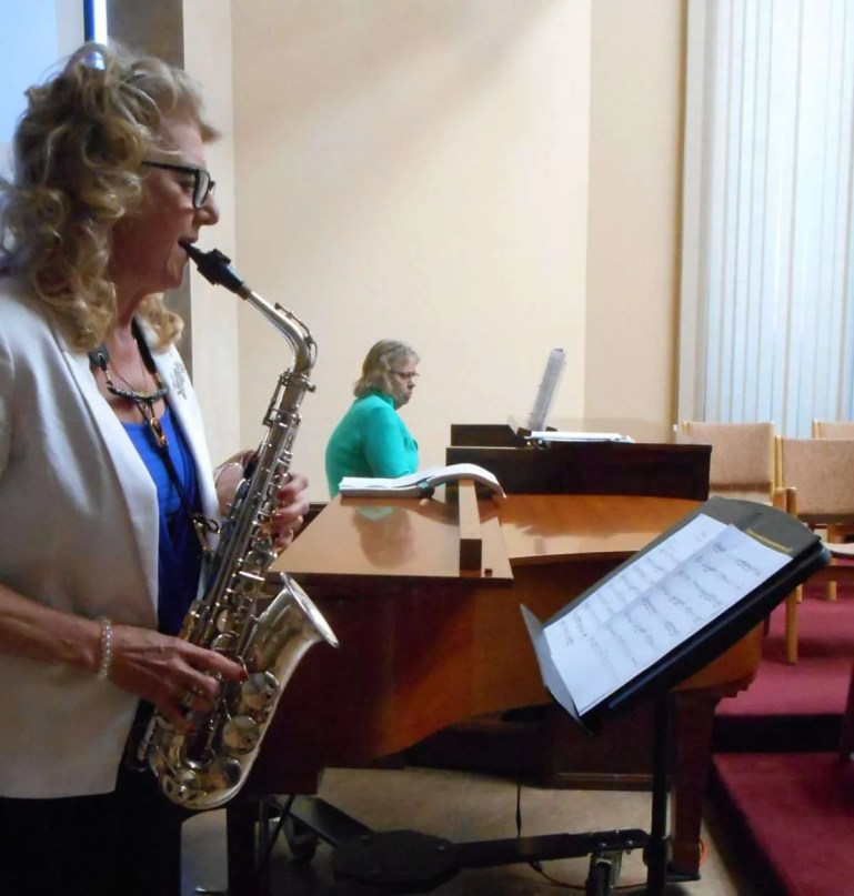 Gail Ovington on pipe organ and Carmen Ranta on saxophone, gift us with some very special Denis Bedard music.