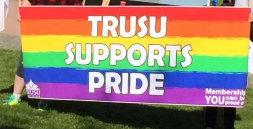 TRU Student Union supports Pride.