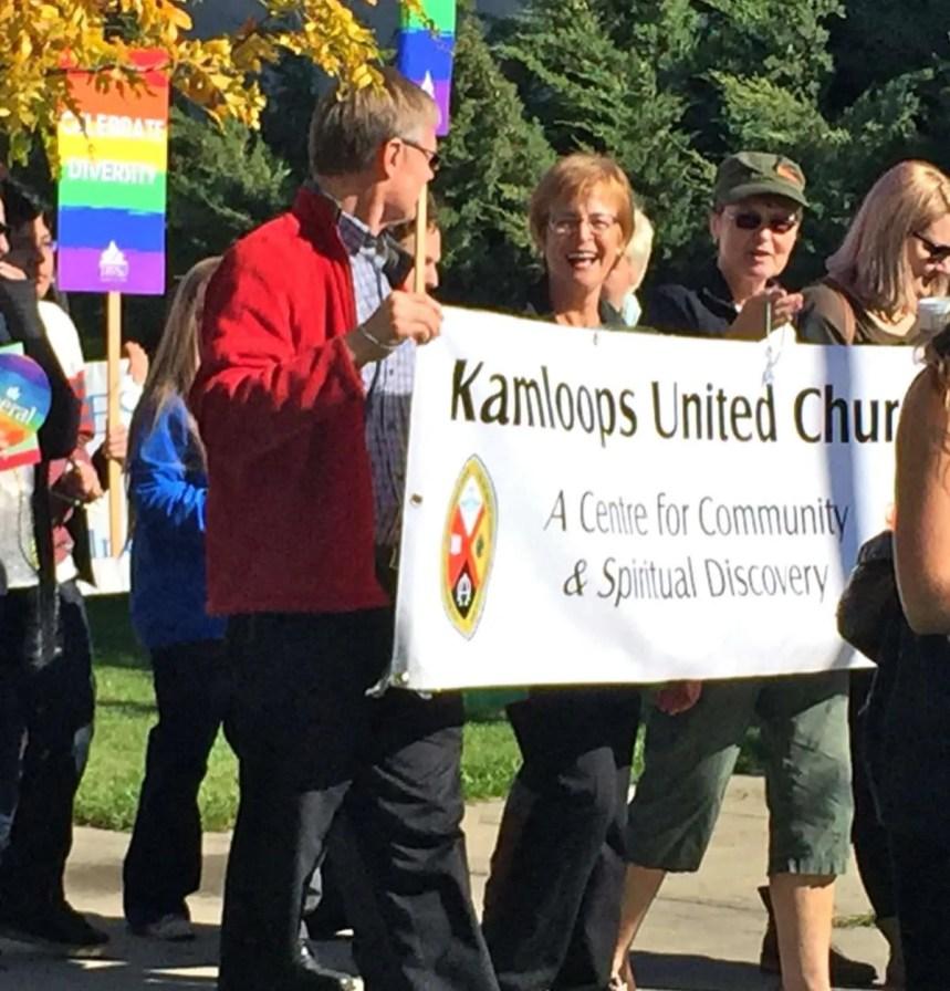 The banner brigade – Bruce, Carole, Lynda and Alix