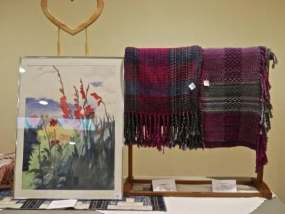 Painting by Dawn Burn. Weaving by Mona Banek.