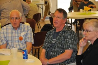 Guest preacher, Rev. Keith Simmonds enjoys lunch.