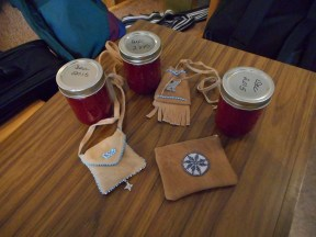Gifts of gratitude and respect were given to our Aboriginal guests.