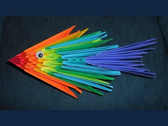 A rainbow prayer fish from British Columbia