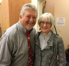 Rick (PIT Stop Coordinator) and Penny (faithful KUC volunteer)