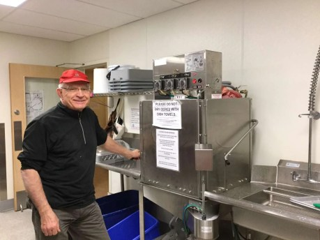 Derm loves that dishwasher!