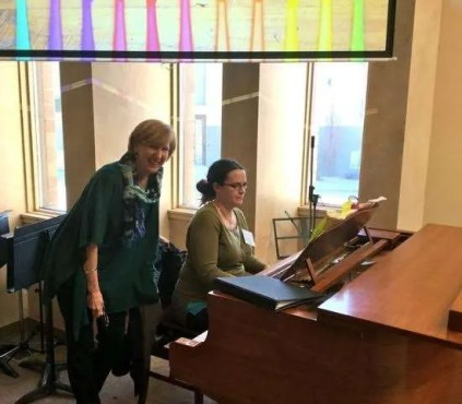 Today's leadership ... Rev. Janet and musician Sabrina