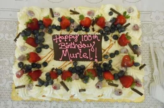 Happy 100th! (Muriel's favourite: Carrot Cake)