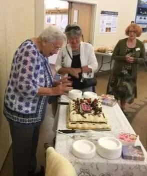 Cake cutting.