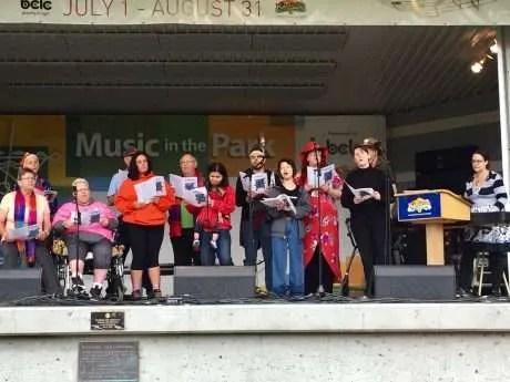 Kamloops Pride Choir - director Rachel Casponi