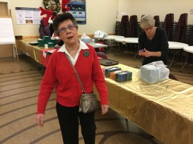 This is the face that Cookie Coordinator Barb pulled when all is (almost) said and done! Thanks to you and your team, Barb!