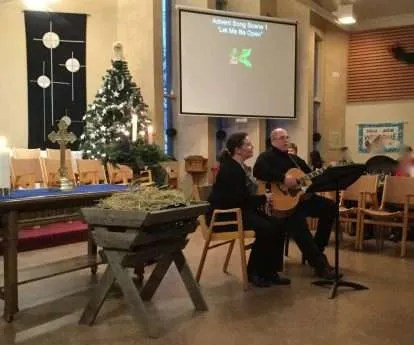 Rachel and Grant chat about the Advent Song