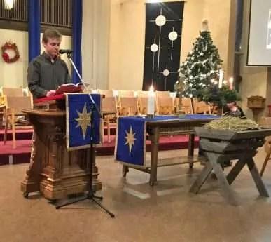Levi read the story of the shepherds arrival Luke2: 8-20