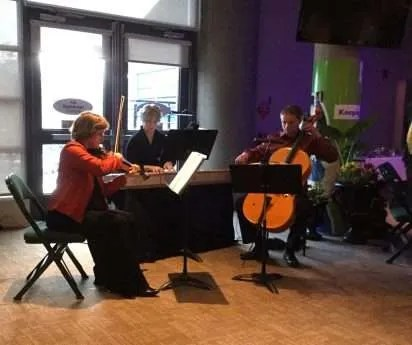 Kamloops Symphony: Sally Arai, Naomi Cloutier, and Martin Kratky sharing their gift of music.