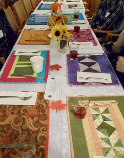 Beautiful placemats loaned to KUC by Mt. Paul United Church.