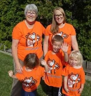 5 Orange Shirts