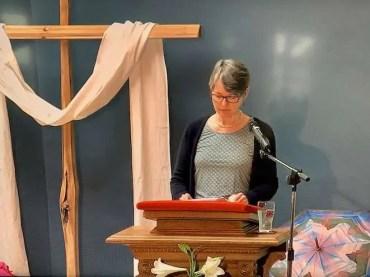 Carol reads scripture